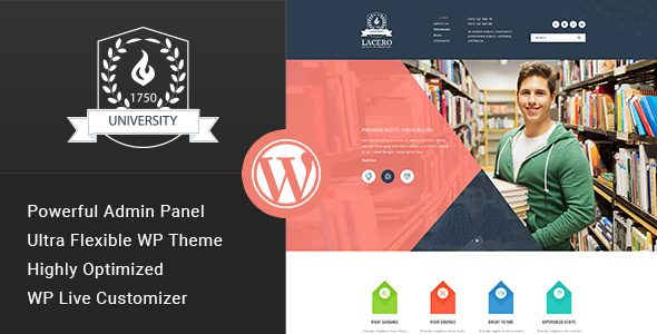 Lacero v1.2 — Education & University WordPress Theme
