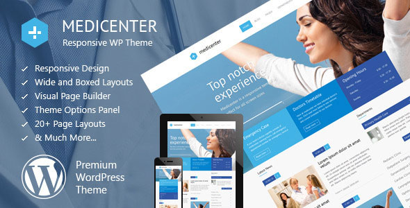 MediCenter v10.0 — Responsive Medical WordPress Theme