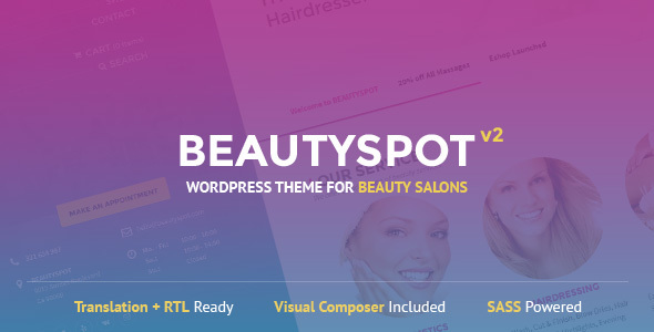BeautySpot v2.4.4 — WordPress Theme for Beauty Salons
