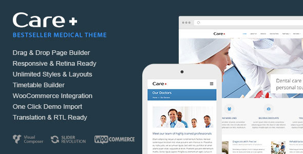 Care v4.6.6 — Medical and Health Blogging WordPress Theme