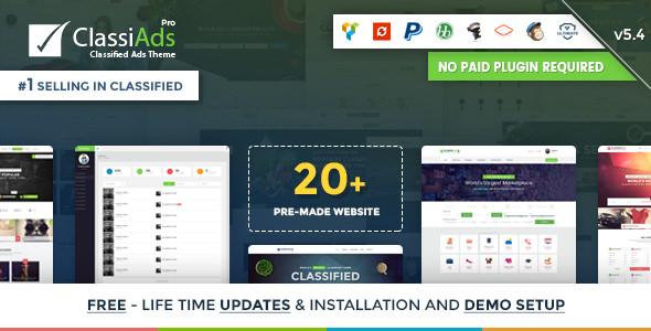 Classiads v5.4 — Classified Ads WordPress Theme