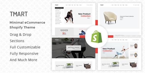 Tmart v1.0.4 — Minimalist Shopify Theme