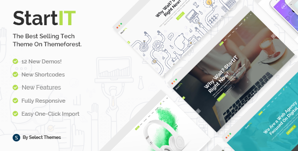 Startit v2.6 — A Fresh Startup Business Theme