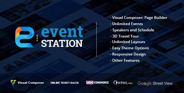 Event Station v1.2.7 — Event & Conference WordPress Theme