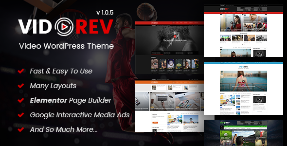VidoRev v1.0.5 — Video WordPress Theme