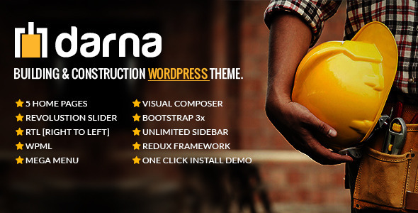 Darna v1.1.6 — Building & Construction WordPress Theme