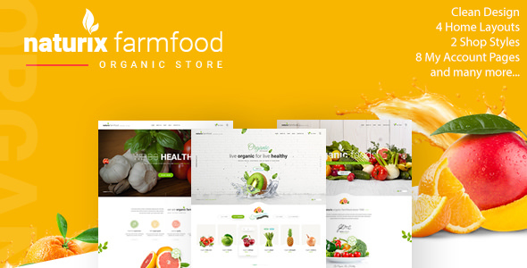 Naturix — Organic Fruit Vegetables Store HTML Template with RTL