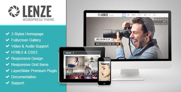 Lenze v2.1 — Portfolio Photography WordPress Theme