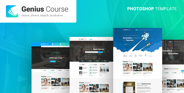 Genius — Learning & Course PSD Template