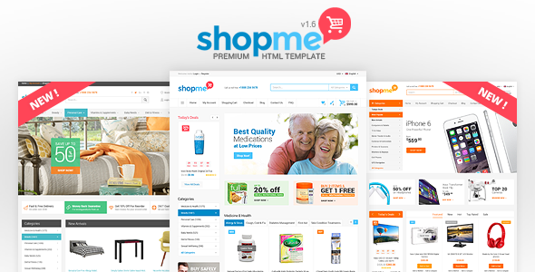 ShopMe v1.6 — Ecommerce Multipurpose HTML Template