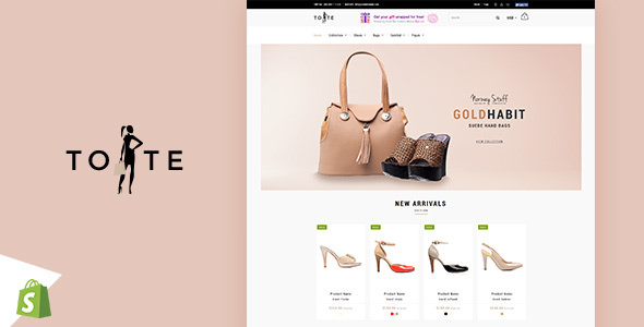 Tote v1.2 — Shoes and Bags Shopify theme