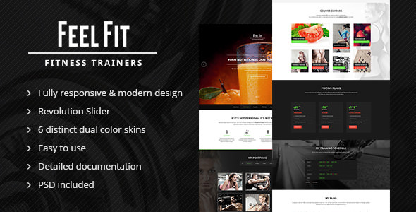 Personal Trainer — One Page HTML5 Template