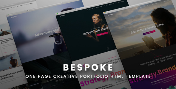 Bespoke — One Page Creative HTML Template