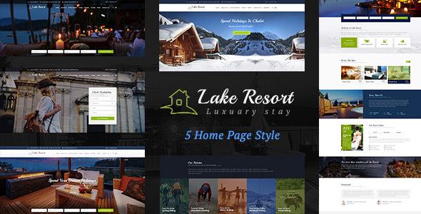 Lake Resort — Resort and Hotel HTML Template