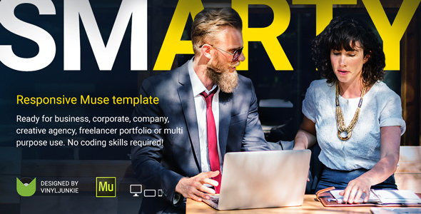 SmArty — Multipurpose Responsive Muse Template