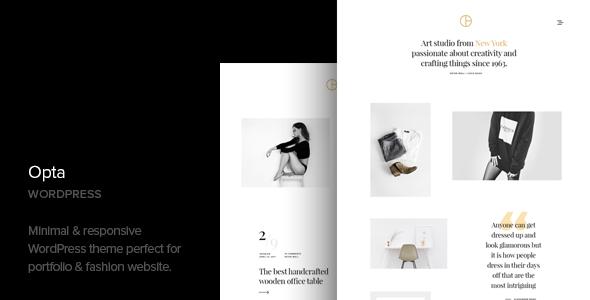 Opta v1.2 — Minimal Portfolio and Photography Theme