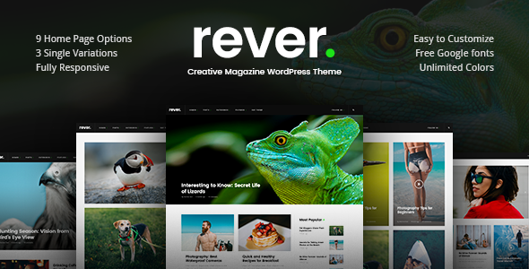 Rever v1.0.2 — Clean and Simple WordPress Theme