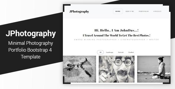 JPhotography — Minimal Photography Portfolio HTML5 Template