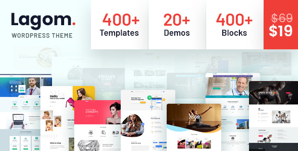 Lagom v1.0.2 — Multi Concept MultiPurpose WordPress Theme