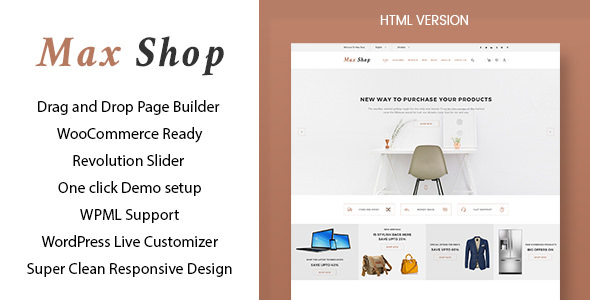 Max shop v1.1 — WooCommerce WordPress Theme