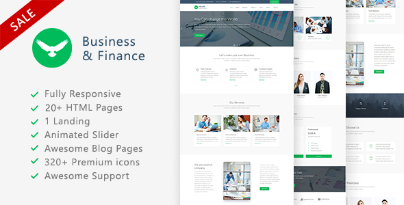 Proff — Business and Finance Template