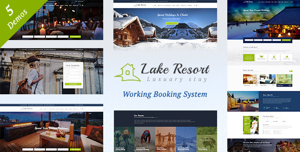 Lake Resort v1.5 — Resort and Hotel WordPress Theme