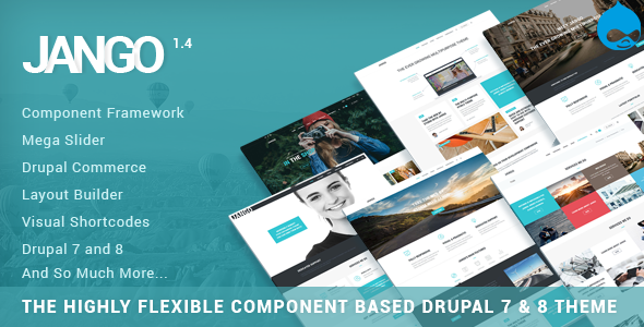 Jango v1.6.1 — Highly Flexible Component Based Drupal 7 & 8 Theme