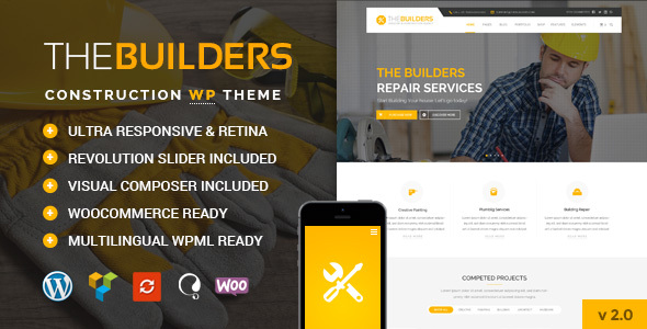 The Builders v2.5 — Construction WordPress Theme