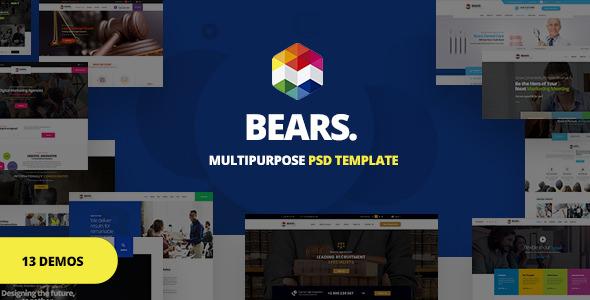 Bear's — Multi-Purpose Business PSD Template