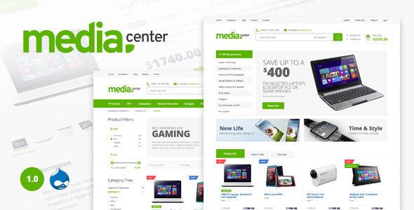 Media Center — Multipurpose Drupal Theme