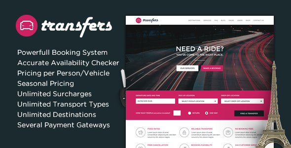 Transfers v1.20 — Transport and Car Hire WordPress Theme