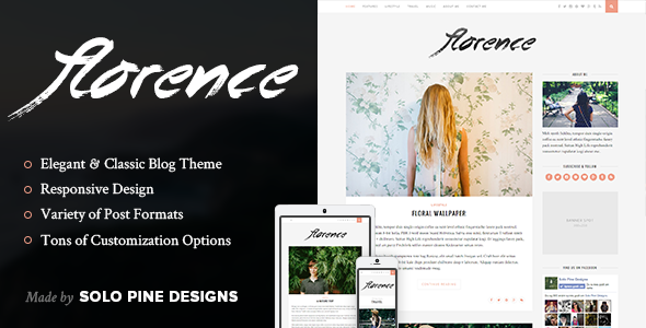 Florence v1.3 — A Responsive WordPress Blog Theme