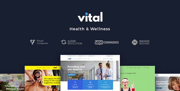 Vital v1.1.2 — Health, Medical and Wellness Theme