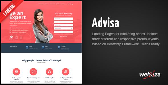 Advisa – Marketing Landing Page