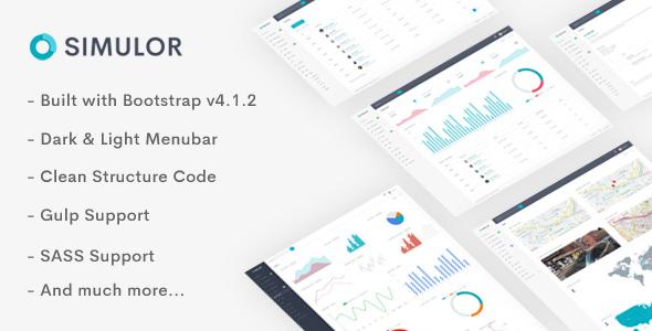 Simulor — Minimal Admin & Dashboard Template