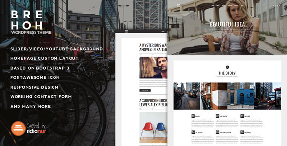 Brehoh v1.2 — Responsive One Page Portfolio Theme