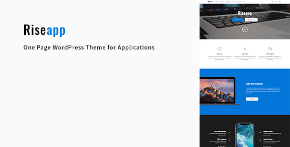Riseapp v1.0.1 — One Page WordPress Theme for Applications