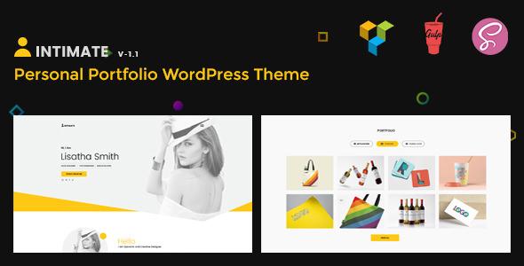 Intimate v1.1 — Minimal Portfolio WordPress Theme