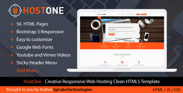 HostOne — Web Hosting HTML Creative Responsive Clean Template
