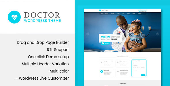Doctor v1.3 — Medical and Health WordPress Theme