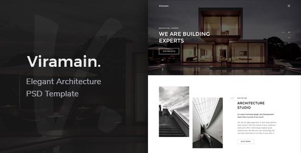 Viramain — Elegant & Minimal Architecture PSD Template