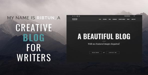 RibTun v1.0 — WordPress Blog Theme For Writers
