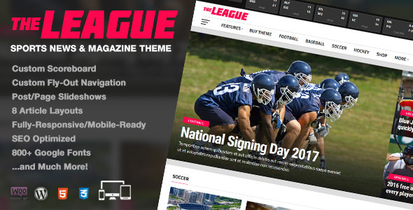 The League v3.1.0 — Sports News & Magazine WordPress Theme