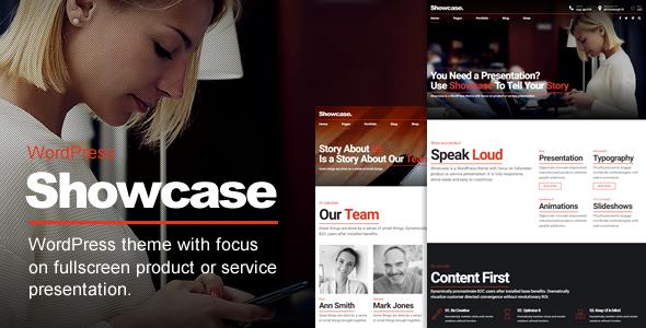 Showcase v1.0.9 — Fullscreen Slides WordPress Theme