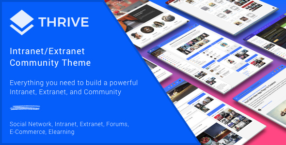 Thrive v3.0.8.1 — Intranet & Community WordPress Theme