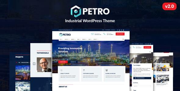 Petro v2.1.9 — Industrial WordPress Theme