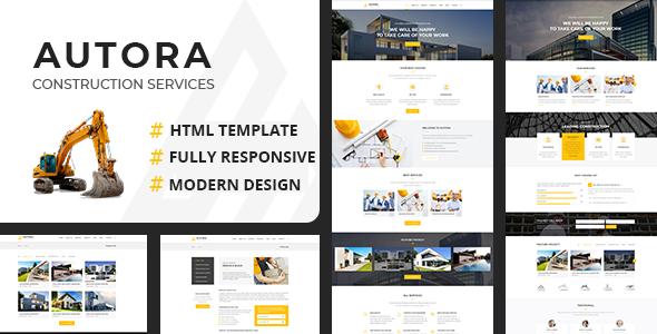 Autora — Construction Business HTML Template
