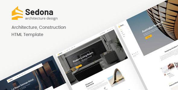 Sedona — Architecture & Construction HTML Template