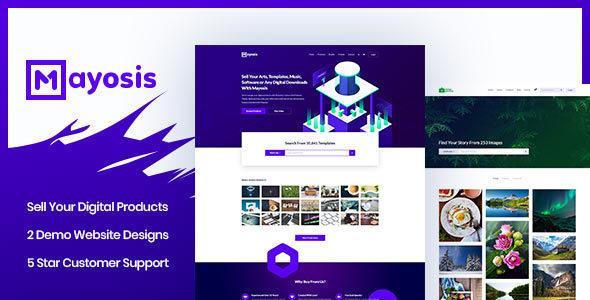 Mayosis v2.0 — Digital Marketplace WordPress Theme
