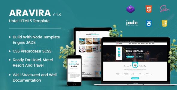Aravira — Hotel HTML Template